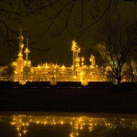 Sun Oil Refinery at Night, Орегон