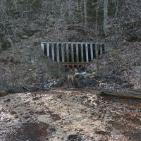 Ex coal mine - Acidic water flowing out of the mine and polluting water courses, Плайнс