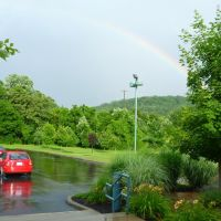 Rainbow over Athens Public Library, Athens, Ohio, Плайнс