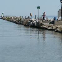 Fishermen, Port Clinton Breakwater, Порт-Клинтон