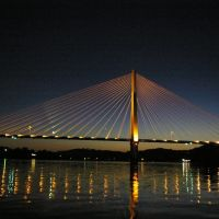 Proctorville Bridge at night, Прокторвилл