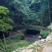 Bridge at Old Mans Cave - Hocking Hills