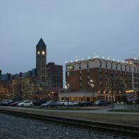 Springfield OH, downtown, early morning, Спрингфилд