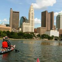Columbus Ohio Skyline from the Scioto River 2010 - Flagship Kayak Team, Урбанкрест