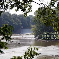 Sandusky river from the bridge at Ballville Ohio., Фремонт