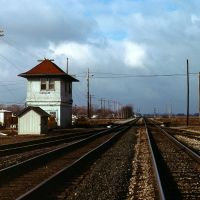 Ridgeway,OH USA railway interlocking tower, 1987, Харрод
