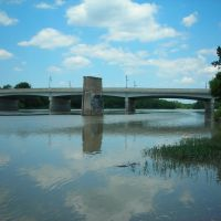 Maumee River and Bridge from bank near Fort Meigs, Perrysburg OH, Холланд