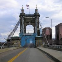 John A. Roebling Bridge Ohio side---st, Цинциннати