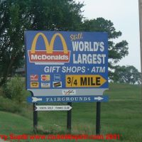 World Largest Mc Donalds of the Word Sign, Винита