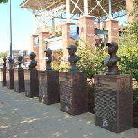 Busts at Mickey Mantle Plaza Entrance, Лаутон