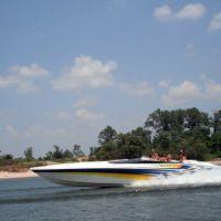 50 ft Boat on arkansas river, Моффетт