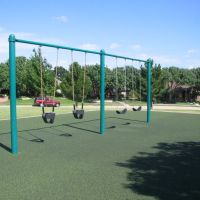 Childrens play area in Harvest Run Park, Carrollton, Олбани