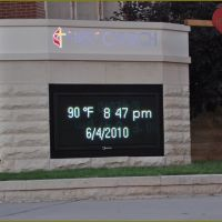 Oklahoma City - Temperatur- and Date-Display, Салфур