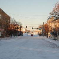 Sand Springs 2nd Street in snow., Санд-Спрингс