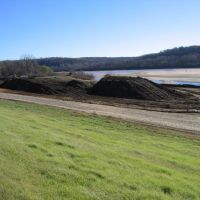 Former Sand Springs Petrochemical Superfund Site - looking southeast to the Arkansas River, Санд-Спрингс
