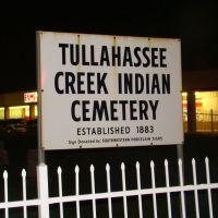 Tullahassee Creek Indian Cemetery, Санд-Спрингс
