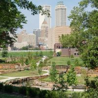 View of Downtown Tulsa from east end of Central Park, Талса