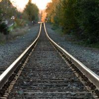 Train tracks at sunrise, Милуоки