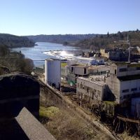 Old Blue Heron Mill at Willamette Falls, OC Oregon, Оак-Гров