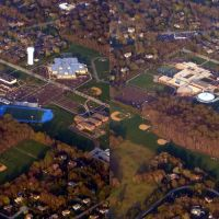 DSC05514 Wissahickon High School Aerial  Stereoscopic Cross-Eyed 3D 4/24/07 -  E view, Амблер
