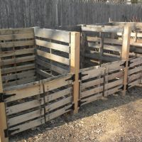 Compost bins, Boy Scout Eagle project, Linwood Park, Ardmore, PA, Ардмор