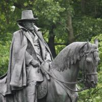 US Grant statue, Kelly Drive, Fairmount Park, Белмонт