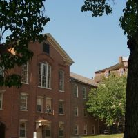 19th Century Buildings at Moravian College (Hearst Hall, Old Chapel) - Bethlehem, Pennsylvania - USA, Бетлехем