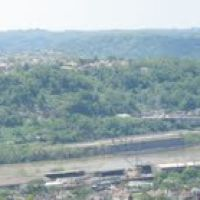 Monongahela River Valley from Grandview Golf Course, North Braddock, PA, Браддок