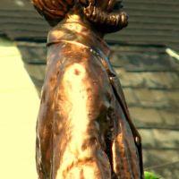 Brass Lincoln statue Wilkinsburg, Браддок