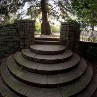 Stairs in a Park. Bryn Athyn College of the New Church, Pennsylvania, Брин-Атин