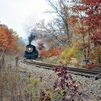 Historic Steamtown Train near town of Nay Aug, Данмор