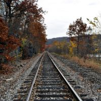 Railway running from Scranton, PA, Данмор