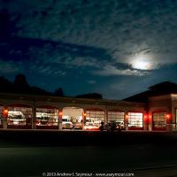 The Minquas Fire Company HQ during the Super Moon rise, Даунингтаун