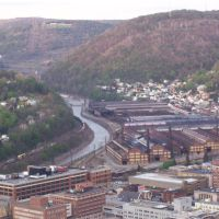 Johnstown, Pennsylvania from the top of the Inclined Plane, Джонстаун