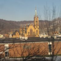 Immaculate Conception R.C. Church in Johnstown from Amtrak, Джонстаун