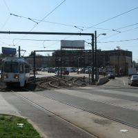 light rail junction, 69th St. Terminal, Philadelphia, Ист-Лансдаун