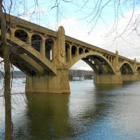 Columbia–Wrightsville Bridge aka Veterans Memorial Bridge, Historic Lincoln Highway, Wrightsville, PA, Ист-Проспект