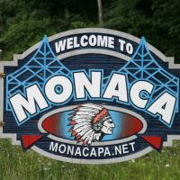 Monaca Borough Sign on Marshall Road, Ист-Рочестер
