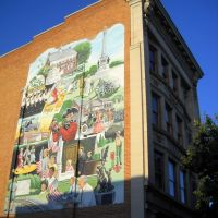 mural, Historic Lincoln Highway, West Market St, York PA, Йорк
