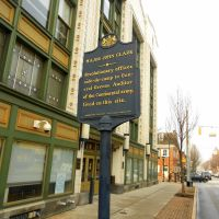 Major John Clark marker, S. Beaver St, York PA, Йорк