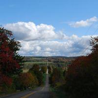 Fall View Down Kinter Hill Road, Кембридж-Спрингс