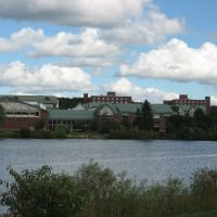 EDINBORO UNIVERSITY of PA, EDINBORO, PA - STUDENT UNION AS SEEN ACROSS FAKE LAKE, Кембридж-Спрингс
