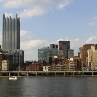 Pittsburgh Skyline seen from Three Rivers Heritage Trail System, Маунт-Оливер