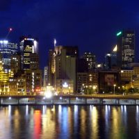 Night view of the downtown Pittsburgh from Station Square, Маунт-Оливер