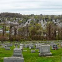 Looking over St Cecilia Cemetery,  Coatesville, PA, Модена