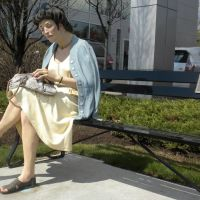"""The Search"" sculpture by Seward Johnson in Ardmore, PA, Нарберт"
