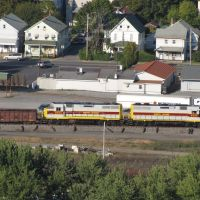 North Shore Diesels from Shikellamy Overlook, Нортумберленд