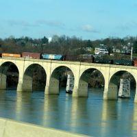 RR bridge over Susquehanna River Harrisburg PA from Rt 83 3/26/11, Нью-Камберленд