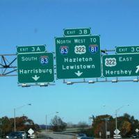 I-283 N Exit 3A, Пакстанг