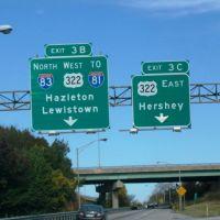 I-283 N Exit 3B & 3C, Пакстанг